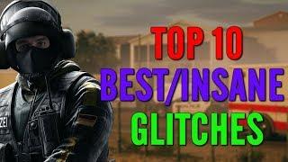 TOP 10 BEST/INSANE GLITCHES IN RAINBOW SIX SIEGE!!!!! - SOLO - Rainbow Six Siege Glitches