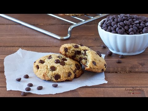 Healthy Chocolate Chip Cookies (Paleo, Vegan)