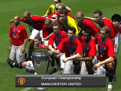 PES 2009 - Become A Legend , European Championship Winner = Manchester  United