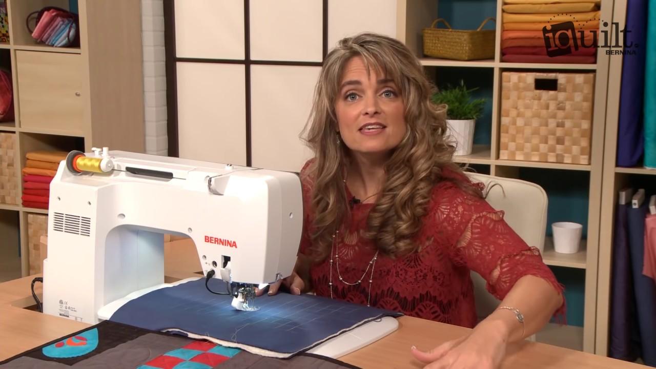 Gina Perkes - Ruler Work on a Domestic Machine - YouTube : domestic machine quilting - Adamdwight.com
