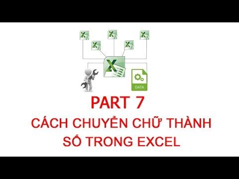 Đổi chữ thành số trong excel 2010   [Thủ thuật excel ] Bài 7 – Cách chuyển chữ thành số trong excel