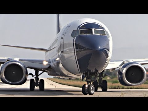 Boeing 737-800 Takeoff JETBLAST & IDIOT DRIVER! | Skiathos Airport Plane Spotting | 2nd St Maarten