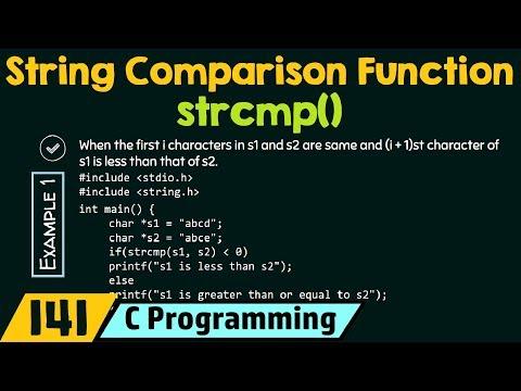 String Comparison Function - Strcmp()
