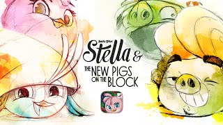 Angry Birds Stella - New Pigs on the Block Gameplay Trailer