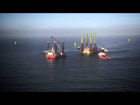 Schweizer Offshore-Windpark Global Tech I in der Nordsee