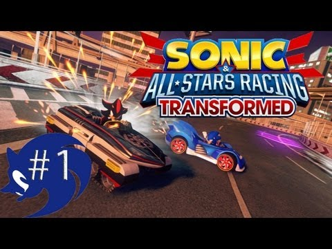 Sonic vs Shadow in SONIC ALL STARS RACING TRANSFORMED!!
