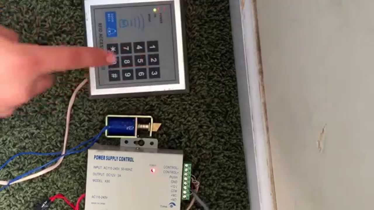 card reader door acces system wiring diagram [ 1280 x 720 Pixel ]