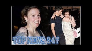 Lena Dunham cuddles up with mystery man at Violet Grey event in LA