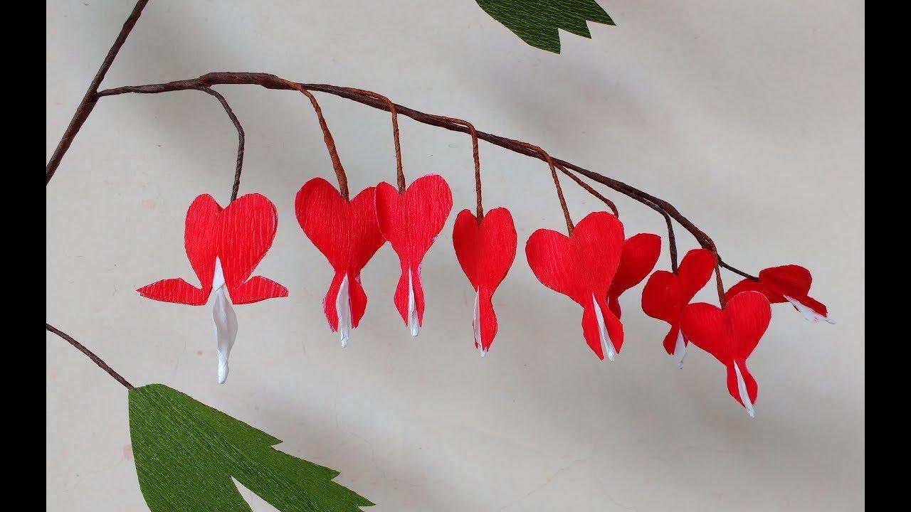 How to make paper flowers bleeding heart dicentra flower 190 how to make paper flowers bleeding heart dicentra flower 190 mightylinksfo