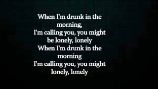 drunk in the morning lyrics