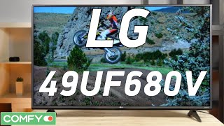LG 49UF680V - Ultra HD-телевизор с функцией Smart TV - Видеодемонстрация от Comfy.ua(LG 49UF680V - телевизор с разрешением экрана Ultra HD. Пользователь получает выход в интернет и возможность скачиват..., 2016-03-04T13:20:00.000Z)