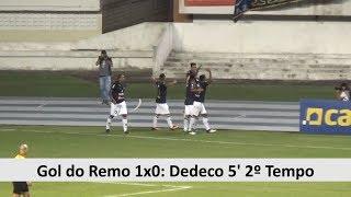 Gol do Remo 1x0 Náutico-PE: Dedeco 5' 1º Tempo - Série C - 11/08/2018