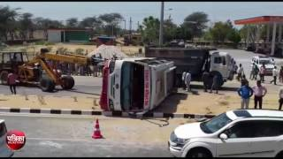 Road accident on lok parivahan bus in sikar