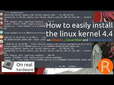 How to easily install the linux kernel 4.4 on Ubuntu , Linux Mint and Elementary OS