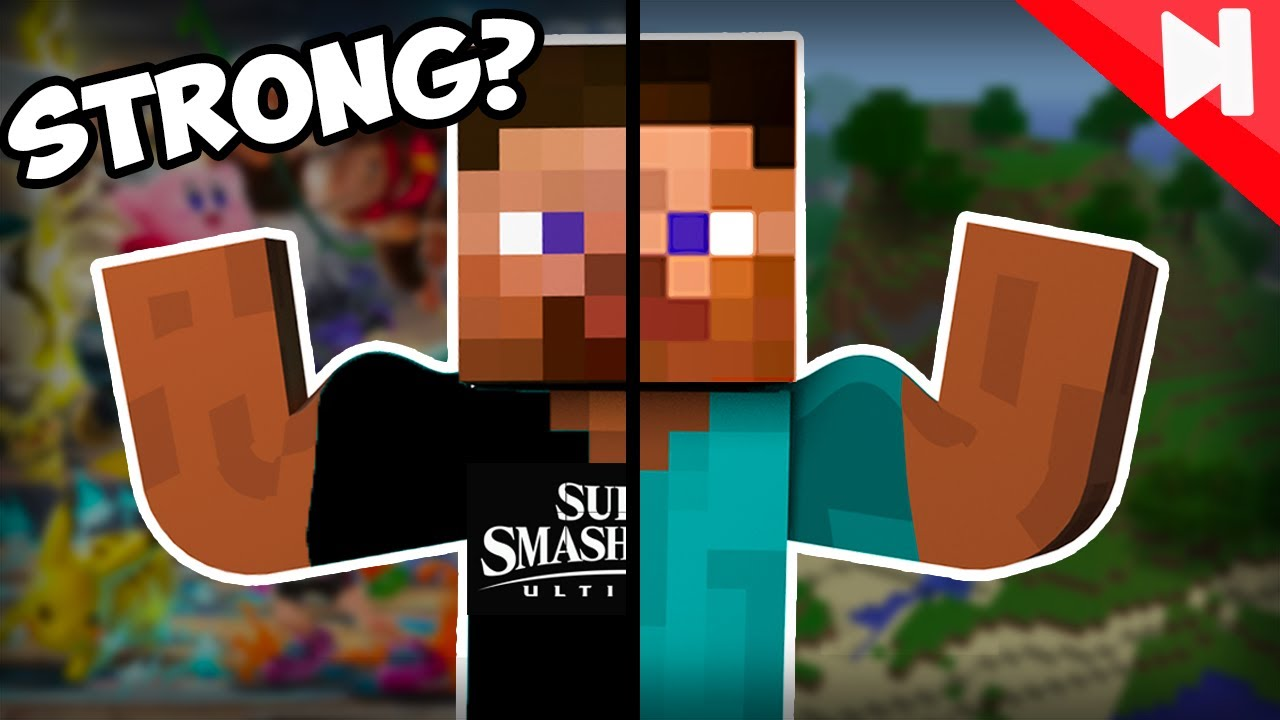 Which Steve is Stronger? Smash Bros Vs Minecraft