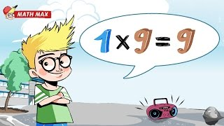 9 Times Table Song | Math Max: Multiplication Table Songs to sing along and memorize