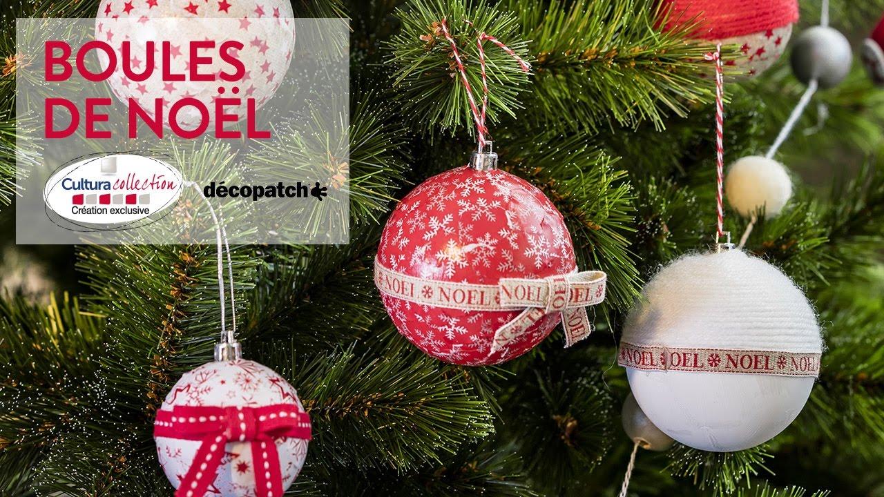 DIY créatif : Boules de Noël   Noël Cosy   YouTube