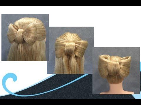 3 x een strik in je haar, 3 x hair bow