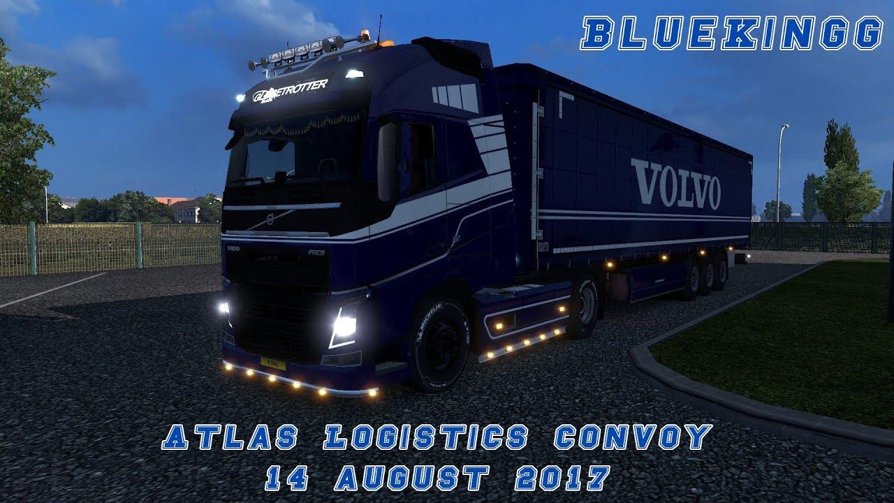 Atlas Logistics Convoy | Brussels to Stuttgart | 14 August 2017 | ETS2MP