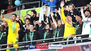 Manchester City lift Carabao Cup Trophy after 2-1 win over Aston Villa! ?