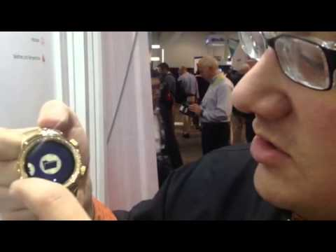 BURG Smart Watch Demo At CES 2015