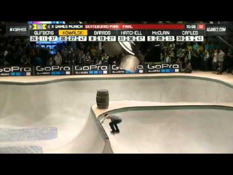 Mens Skateboard Park Final X Games Munich 2013HD