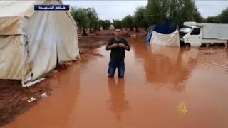 أوضاع بالغة السوء بمخيمات النازحين بريف حلب