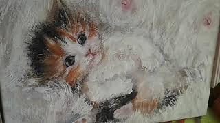 Какой котенок лучше -акриловый или карандашный? ДВЕ ТЕХНИКИ ДЛЯ ОДНОГО СЮЖЕТА.