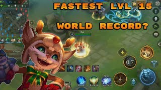 LEVEL 15 IN 7 MINUTES AND 30 SECONDS????? - Arena of Valor Fennik Gameplay