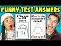 TEENS READ 10 FUNNY TEST ANSWERS (REACT)