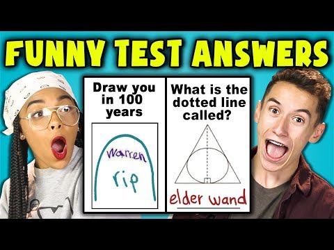 Thumbnail: TEENS READ 10 FUNNY TEST ANSWERS (REACT)