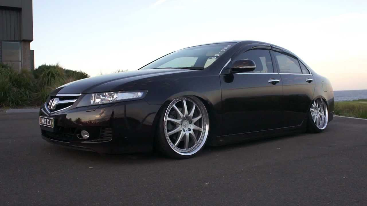 Mrr31n Air Suspension On Honda Accord Euro Cl9 Cl7 Tsx With Work Vs Fx Wheels Youtube