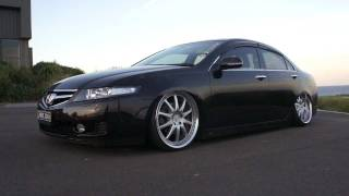 [ MRR31N ] Air Suspension on Honda Accord Euro CL9  CL7 TSX with WORK VS-FX Wheels