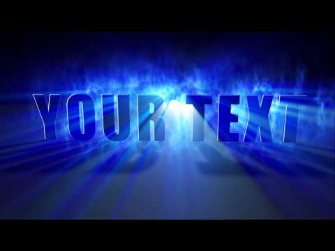 3D text with light rays - After Effects Project