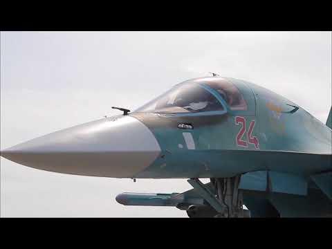 Стрельбы Су-34 на учении под Курганом