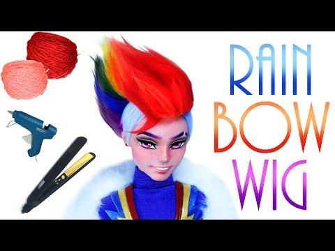 REUPLOADED - Rainbow Faux hawk Doll Wig [ Rainbow Dash MLP ]