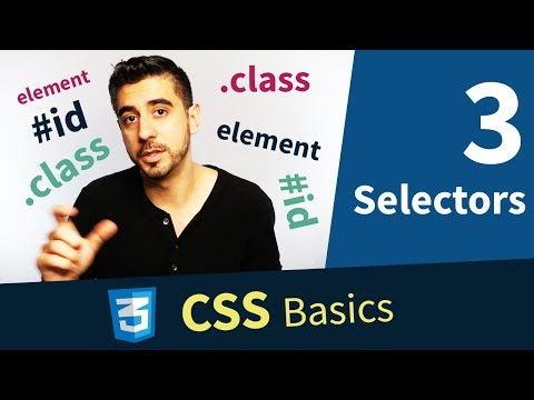 CSS Tutorial — Selectors, Element, Class And ID (3/13)