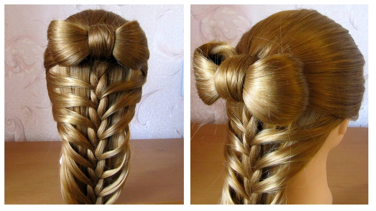 Oiffure facile a faire soi meme noeud papillon cheveux - Comment faire un noeud papillon avec un ruban ...