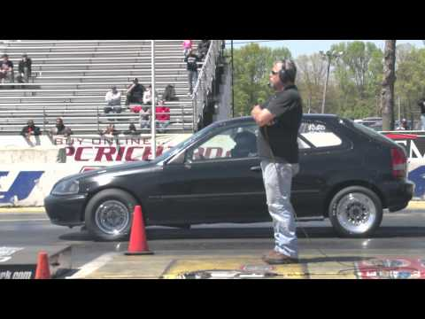 Nyce1s Clips - Fast Guy's All Motor K-Series Civic EK @ Sport Compact Spring Nationals E-Town 2012!!
