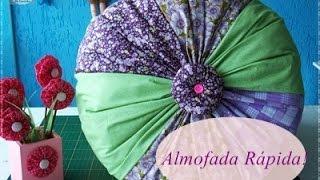 Faça uma linda almofada usando tiras de tecido