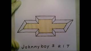 How To Draw The Chevy Logo Symbol Emblem Sign Car Auto Step By Tutorial