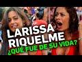 LARISSA RIQUELME PONIENDO EN APRIETOS A ENTREVISTADOR.