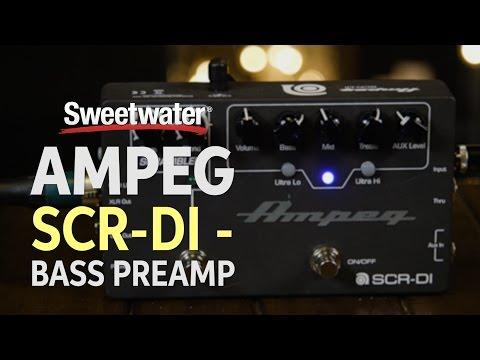 Ampeg SCR-DI - Bass Preamp with Scrambler Overdrive Pedal Demo
