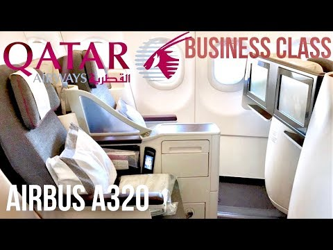 Qatar Airways Business Class Airbus A320 Helsinki to Doha