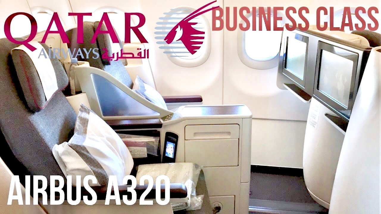 Qatar Airways Business Class Airbus A320 Helsinki To Doha Youtube