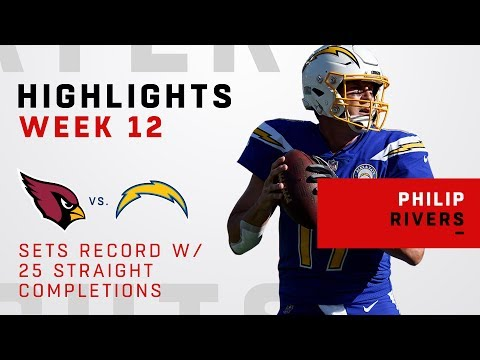 Philip Rivers Sets Record w/ 25 Straight Completions to Start the Game!