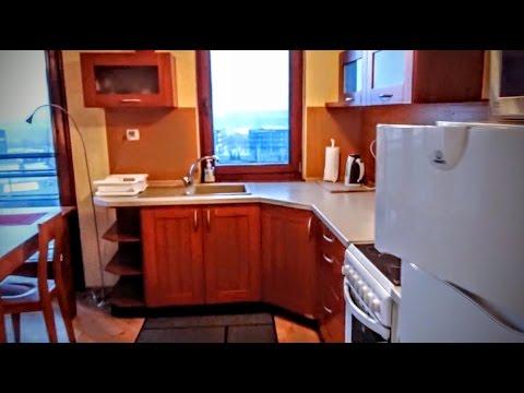 видео: #531 Классная видовая квартира в Кракове. Аренда. czerwone maki.