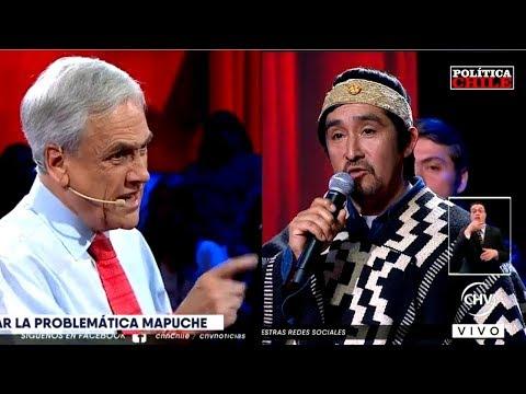 """Sebastián Piñera vs Lonko Mapuche: """"Más Respeto con Carabineros"""""""