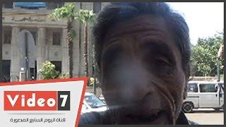 """بالفيديو.. مواطن للرئيس : """"أنا أسير حرب 73 وعاوز حقى عشان مرمى فى الشارع"""""""