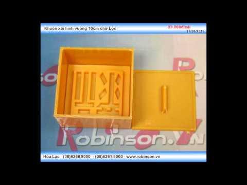 Khuôn ép xôi hình vuông bằng nhựa loại 10cm